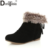 DoraTasia Brand New Large Sizes 31 43 Comfortable Snow Boots Women Shoes Woman Slip On Winter