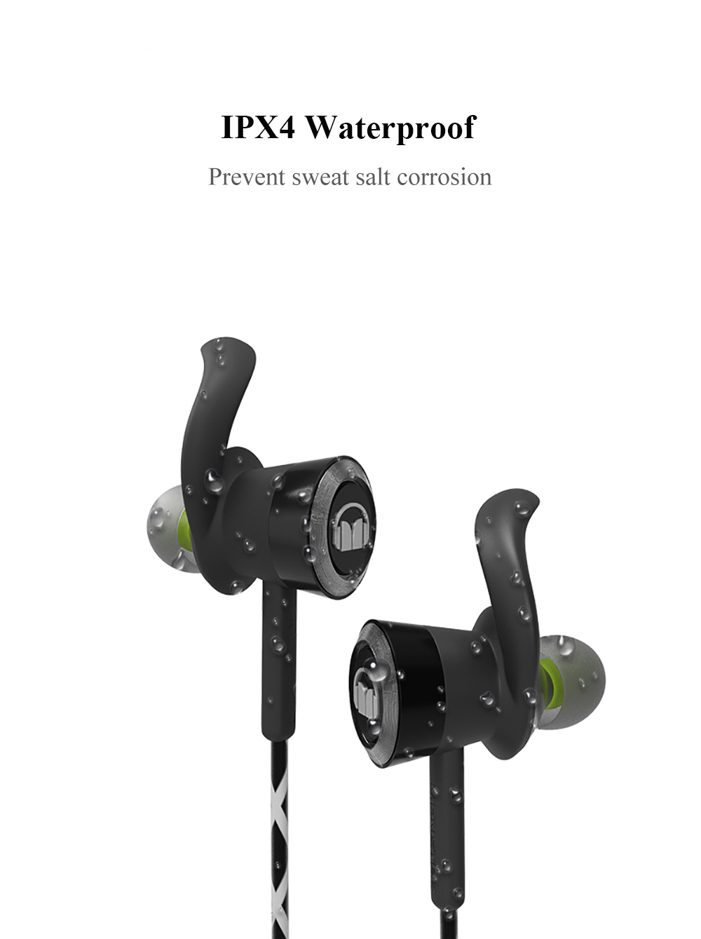 Mic Correndo IPX4 Fio Reflexivo À Prova D' Água