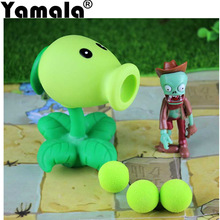 [Yamala] 2017 PVZ Plants vs Zombies Peashooter PVC Action Figure Model Toy Gifts Toys For Children High Quality Brinquedos
