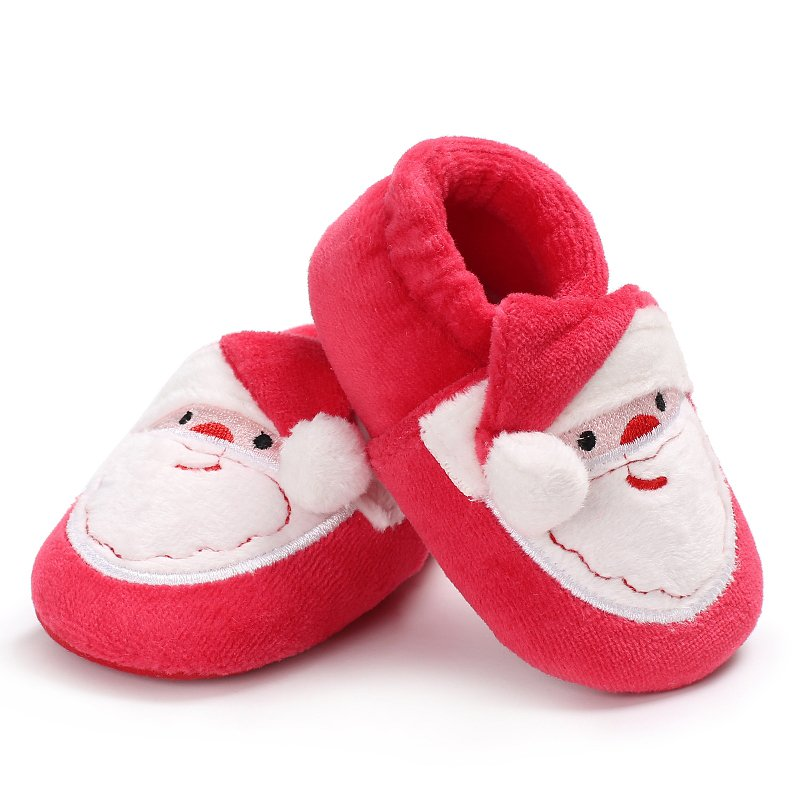 2017 New Arrivals Toddler Infant Newborn Christmas Santa Claus Soft Sole Baby Girl Boy First Walkers Prewalkers Shoe Cute Style