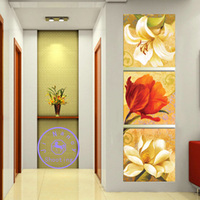 Flower triptych 3pcs Diamond embroidery Painting rhinestones 3D picture cross stitch pattern Home decoration