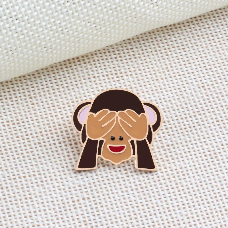 Emoji  Monkey Brooch Pins 2