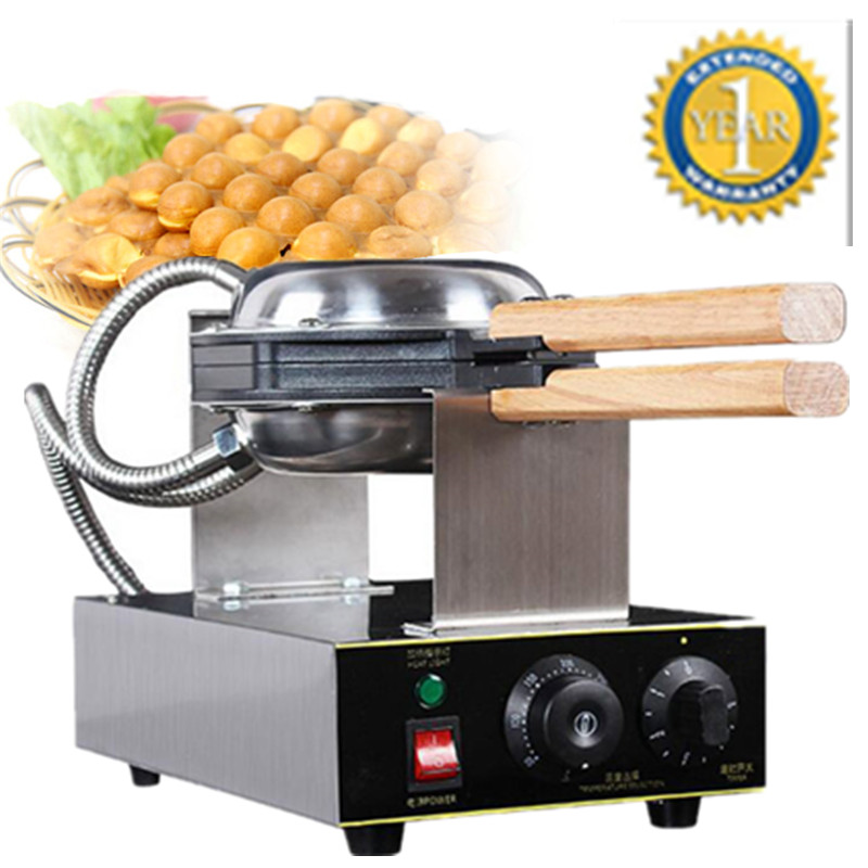 Фотография Best Price Rotating Stainless Steel 110v 220v Electric Hong Kong Egg Waffle Machine; QQ Egg Cake Waffle Maker