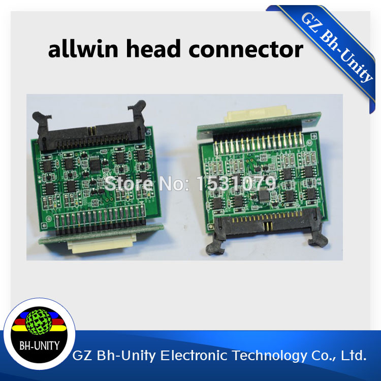 High Quality!! Eco solvent printer spare parts Allwin Human head connector board for sale high quality solvent printer spare parts damper for spt 510 printhead