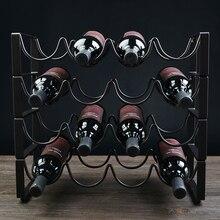 Excellent European four tier iron wine rack wine holder assemble iron wine rack Wine iron frame