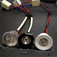Светодиодный мини-светильник под шкаф Точечный светильник 1 Вт для потолка встраиваемый светильник AC85-265V светильник с регулируемой яркостью