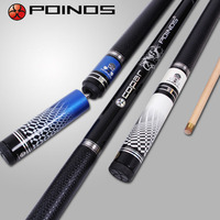 New Arrival POINOS Brand Pool Cues Billiard Stick 10mm Tips With Extension Black/White/Blue/Gold Colors China