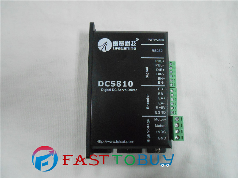 цена DCS810 Leadshine Digital DC Brush Servo Drive Servo Amplifier Servo Motor Controller up to 80VDC/20A NEW Original