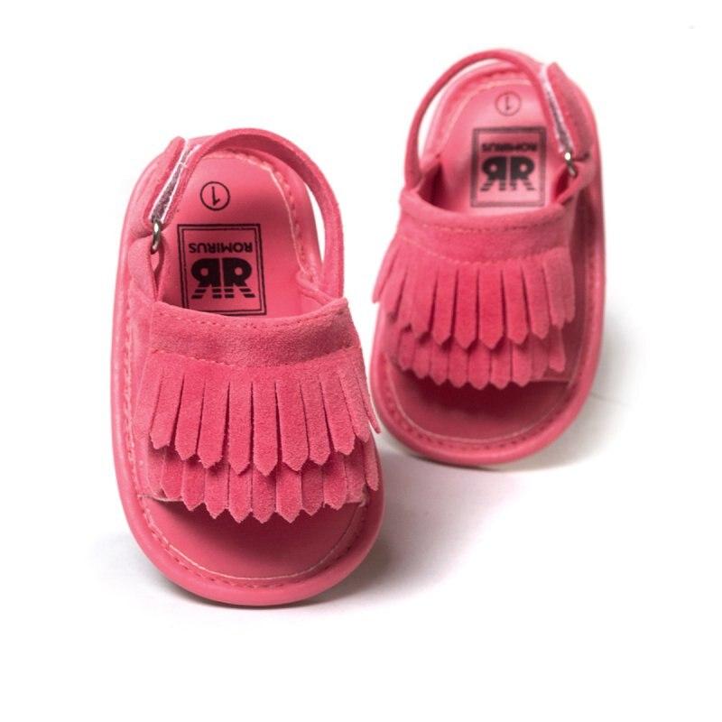 Sommer Tassel Sandals Baby Kind Kinder rutschfeste verschleißfeste Schuhe Pink Gold Silber weiche Gummiboden sandalhigh Qualität