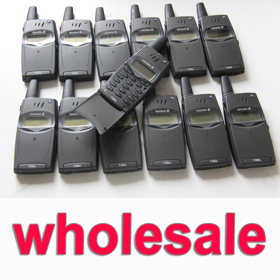 Wholsale 10pcs Lot Original Ericsson T28 T28s Mobile Phone 2G GSM 900 1800 Unlocked T28sc Old