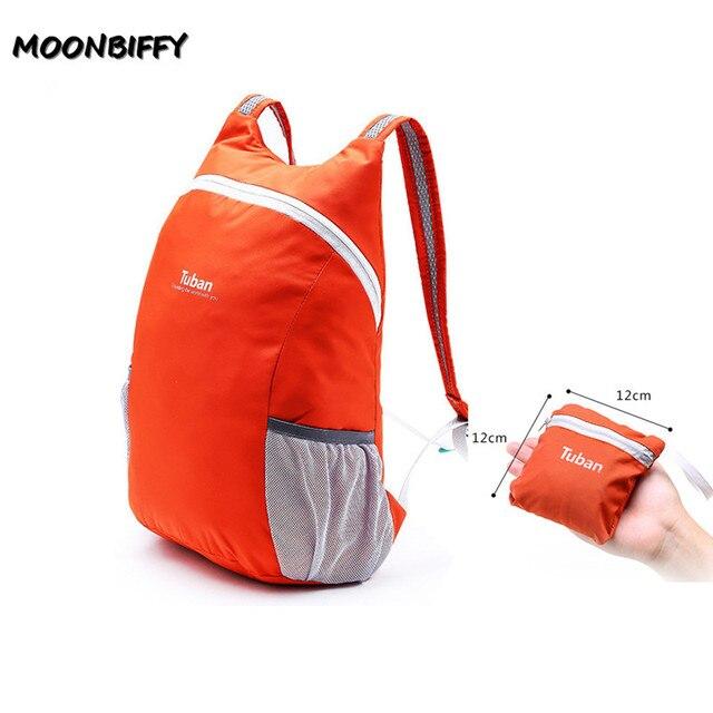 TUBAN Lightweight Nylon Foldable Backpack Waterproof Backpack Folding Bag Portable Men Women Backpack for Travel