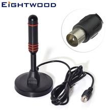 Eightwood цифровой ТВ антенна с высоким коэффициентом усиления портативная Внутренняя/наружная цифровая антенна для DAB радио/USB ТВ-тюнер/ATSC телевизионный магнит