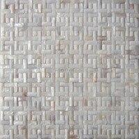 11pcs White color interior wall shell mosaic tile wallpaper wall sticker
