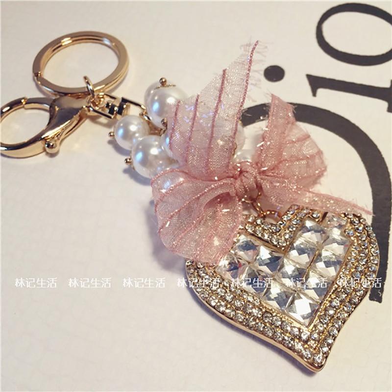 Quality Brand KeyLock Heart Clover Car Keychain Key Chain Bag Hanger ring for Women Female Novelty Gifts Llaveros