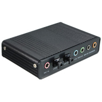 USB External 4 Channel 5 1 S PDIF Fiber Sound Card