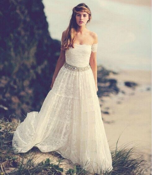 Vintage bohemian wedding dresses 1970s hippie bohemian for Hippie vintage wedding dresses
