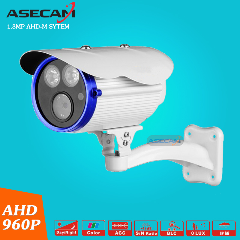 new AHD Camera HD 960P Waterproof Outdoor Metal Bullet Surveillance 2pcs Array Security Camera Infrared Night Vision 80Meter super 4mp full hd ahd security camera metal bullet outdoor waterproof 4 array infrared surveillance camera ov4689 chip