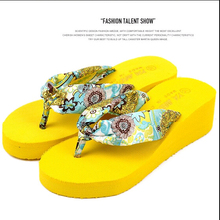 8c5cc0c6fbda4a Summer bohemia flower Women flip flops platform wedges women sandals  platform flip slippers beach sandals shoes