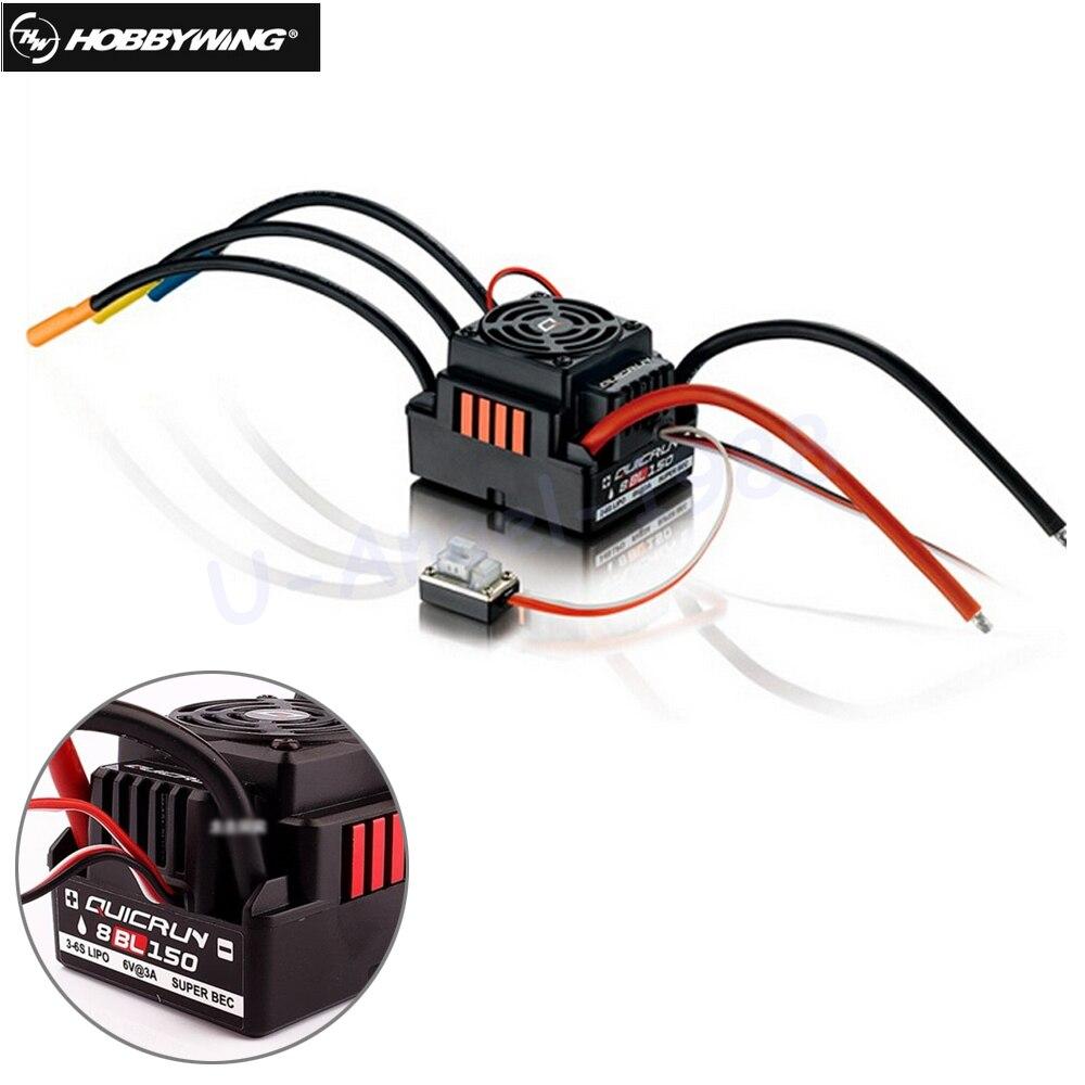 1 pièces d'origine Hobbywing Quicrun 8BL150 sans balai étanche sans capteur 150A ESC Rock chenille ESC pour voiture 1/8 Rc