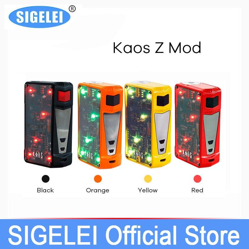 Boîte Vape Mod 200 W TC boîte superpower 2017 plus récent Original Sigelei coloré LED e cigarette électronique Kaos Z Vape boîte Mod