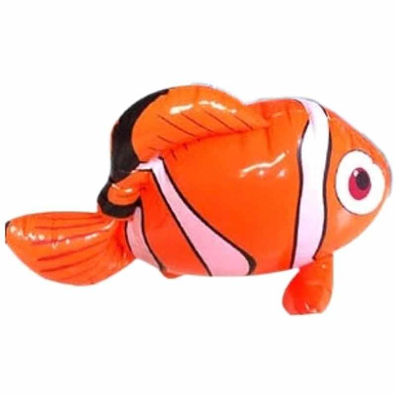Juguetes de agua de baño con forma de Animal marino decorativo de pez payaso inflable para niños