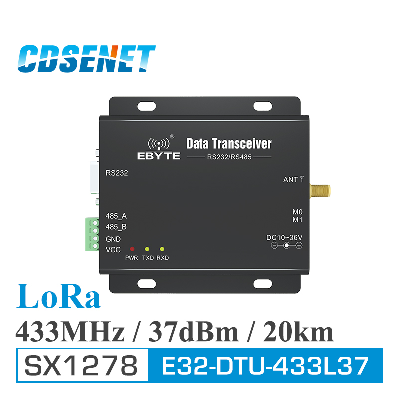 LoRa SX1278 433 MHz longue portée 5 W récepteur émetteur-récepteur 37dBm 20 km CDSENET E32-DTU-433L37 RS232 RS485 433 MHz wifi Port série