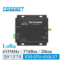 LoRa SX1278 433MHz Long Range 5W Transceiver Receiver 37dBm 20km CDSENET E32 DTU 433L37 RS232 RS485 433 MHz wifi Serial Port