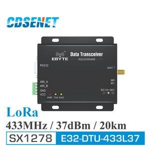 Image 1 - لورا SX1278 433 MHz طويلة المدى 5 واط استقبال جهاز الإرسال والاستقبال 37dBm 20 كجم CDSENET E32 DTU 433L37 RS232 RS485 433 MHz واي فاي المنفذ التسلسلي