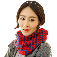 Patchwork Knitted Scarf LICs For Women Winter Thicken Warm Scarves Spring LIC For Women Scarf Collar