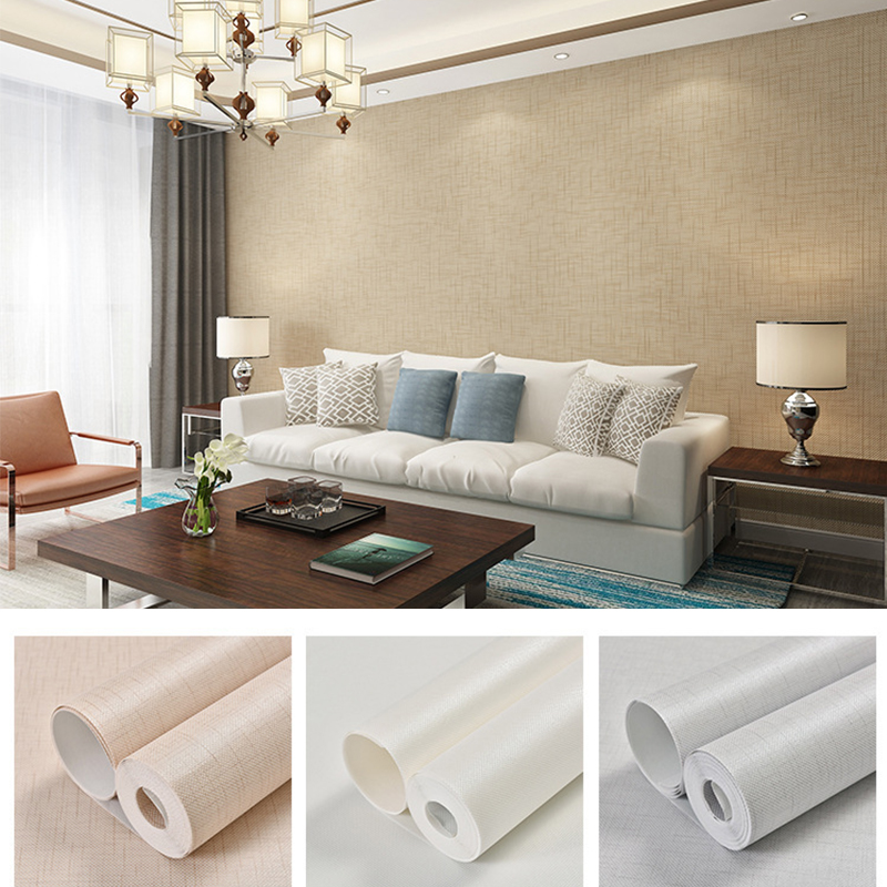 5 Color Silver Metallic Vinyl Grasscloth Wallpaper Roll Bedroom Textures Wall Paper Dining Room Hotel Striped Wallpapers