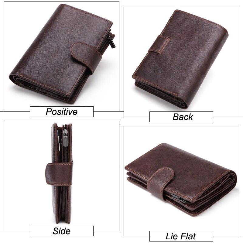 Image 4 - MISFITS Mens Wallets Genuine Leather Passport Holder Wallet Man Vintage Cowhide Passport Cover Brand Male Zipper&Hasp Coin Pursebrand pursepurse brandmen wallet genuine -