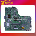 Para asus x54h x54hr laptop motherboard k54hr rev: 3.0 com cpu i3-2350 hd 74700 mainboard testado bom!