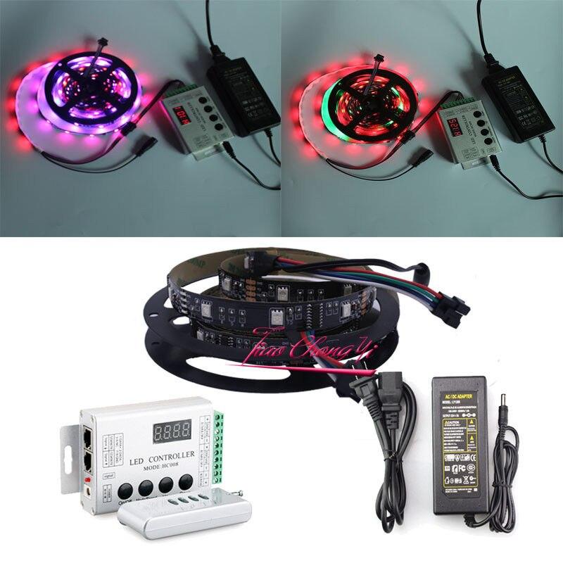 5 M 150 LED 6803 LED Bande IP20 avec Contrôleur de Couleur de Rêve avec 12 V 5A alimentation LED