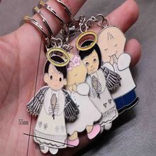 Catholic cute cartoon angel key chain jewelry chain, glamour backpack men and women