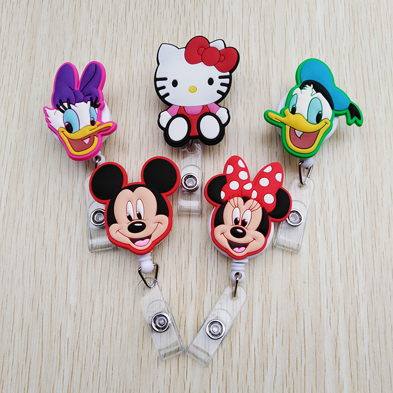 Labels, Indexes & Stamps Big Sale Mini Animal Family Retractable Badge Reel Student Nurse Exihibiton Id Identification Card Badge Holder Office Supplies
