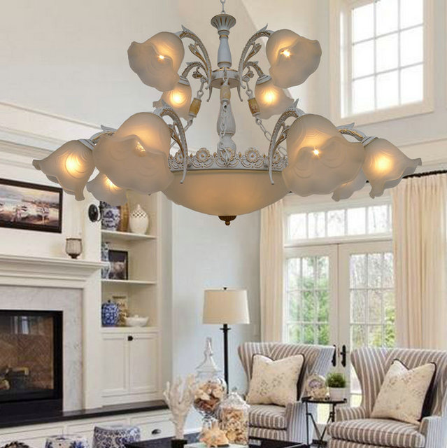 Wrought Iron Shipping Chandeliers Room Restaurant Stores Lamps American  Retro Simple House Iron Lamp ZX27