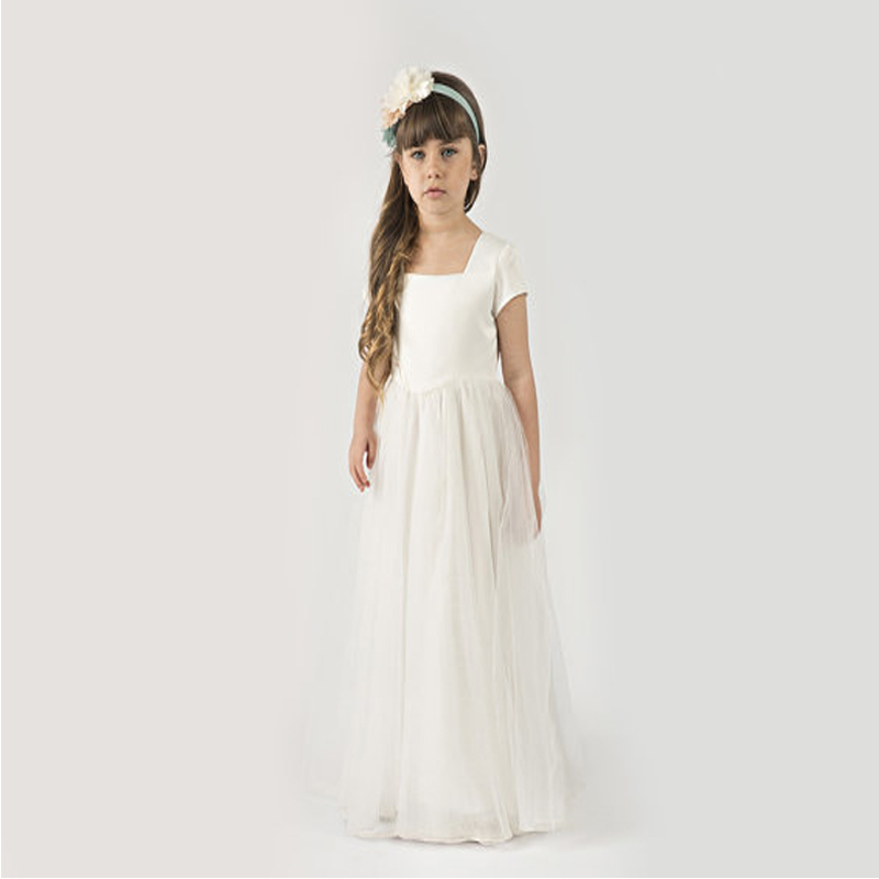 A-Line Flower Girls Dresses For Wedding Gowns Tulle Kids Evening Gowns Long Girls Clothes Mother Daughter Dresses For Girls princess gowns luxury girls gowns ceremony girls long dresses for party and wedding clothes for teenage girls 14 to 17 years old