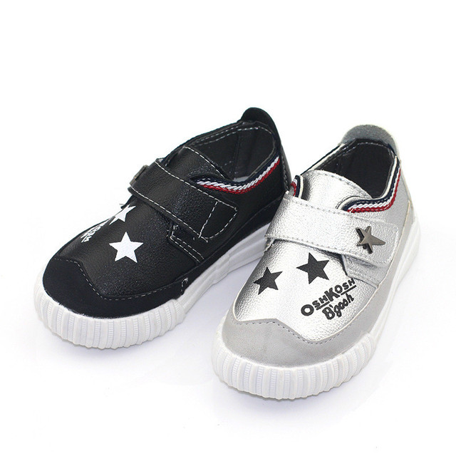Moccasins Kids 2016 Autumn/Spring Fashion Girls Leather Shoes Solid Star Casual Pretty Girls School Shoes Boys Leather Shoes