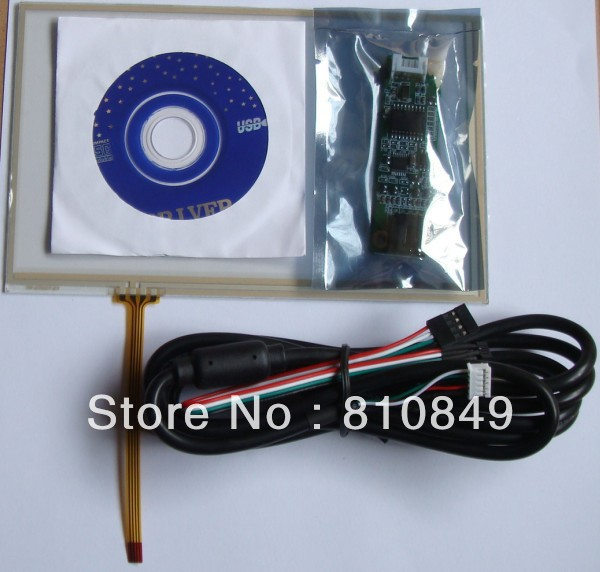 ФОТО 7inch 4-Wire Resistive LCD Touch Panel 164.8mm*103.8mm+ USB port Controller card