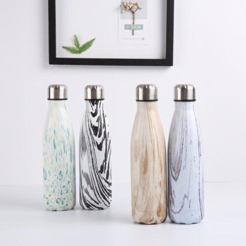 500 ml Bottiglia di Acqua di Vuoto Isolamento Termico di Sport Freddo Caldo Freddo Hot New Creativo In Acciaio Inox Marmorizzazione Tazza di Vuoto