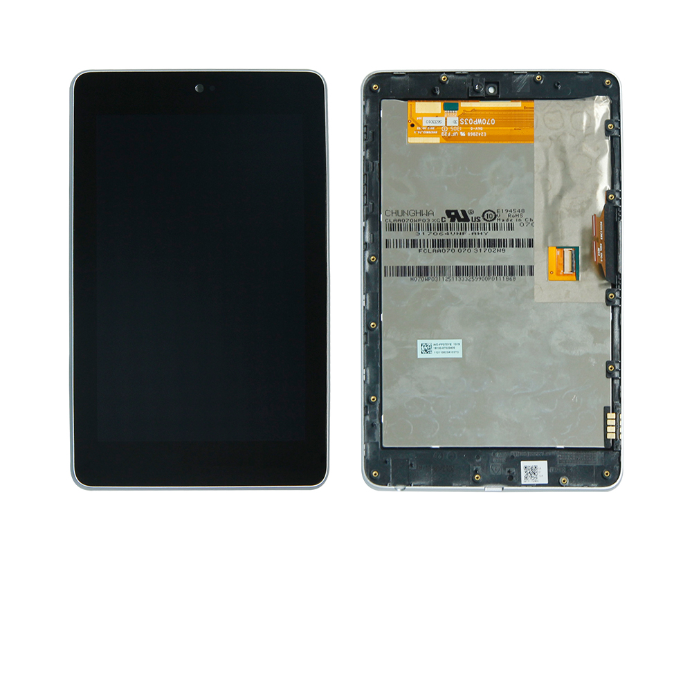 где купить For Asus Google Nexus 7 1st 2012 Wifi Version Touch Screen Digitizer + LCD Display Assembly With Frame Free Shipping по лучшей цене