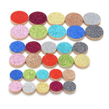 20PCS/lot Oil Pad Colorful Felt Pads for 30mm 24mm 20mm Perfume Locket Essential Oil Diffuser Locket Accessories 8520