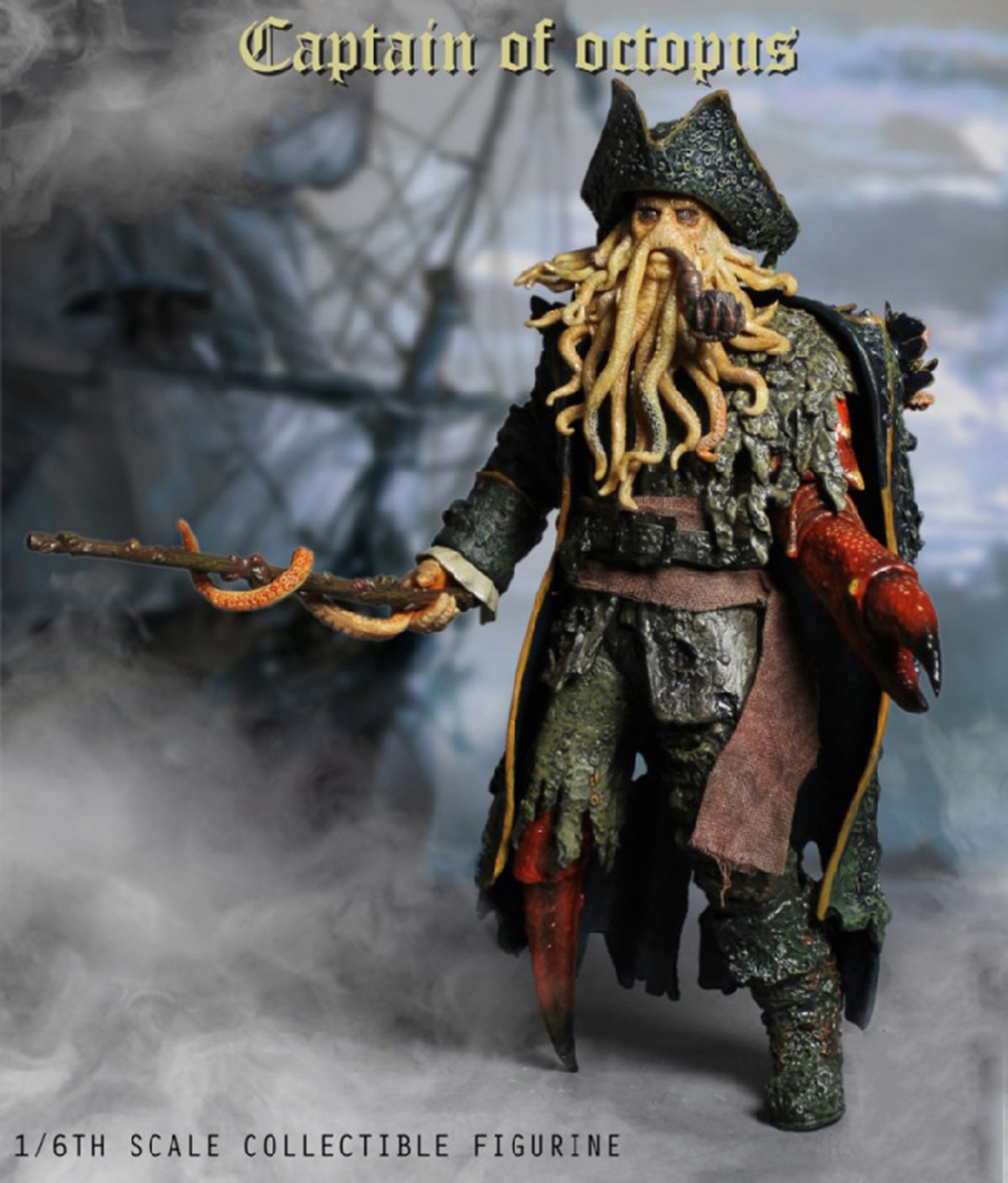 1/6 Caribbean Captain Action Figure Davy Jones figure doll full set doll With ACC Colletible Model Toys And original box 1
