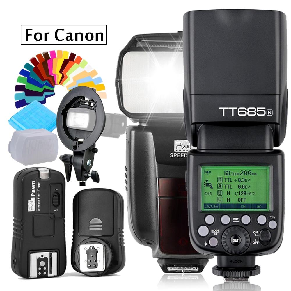IN560IV plus Wireles Flash OR Godox TT685C Flash TTL HSS Camera Flash speedlite OR PIXEL M8 2.4G Flash+Trigger For Canon Camera