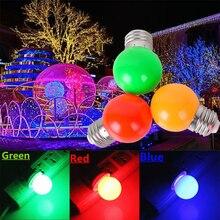 1W 3W E27 LED RGB Light Bulb G45 220V SMD 2835 Lamparas Led Bulbs Colorful bulb flashlight