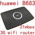 Desbloqueado huawei b683 21.6 150mbps 3g wi-fi roteador sem fio hspa + router cpe suporte porta usb wcdma 900/2100 mhz pk b970 b970b b681