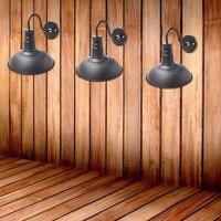 2016 Lámpara de Luz Led Lámpara de Pared Loft de Estilo Americano Retro País Olla Cubierta de la Lámpara de Pared de Estilo Antiguo Negro O Blanco