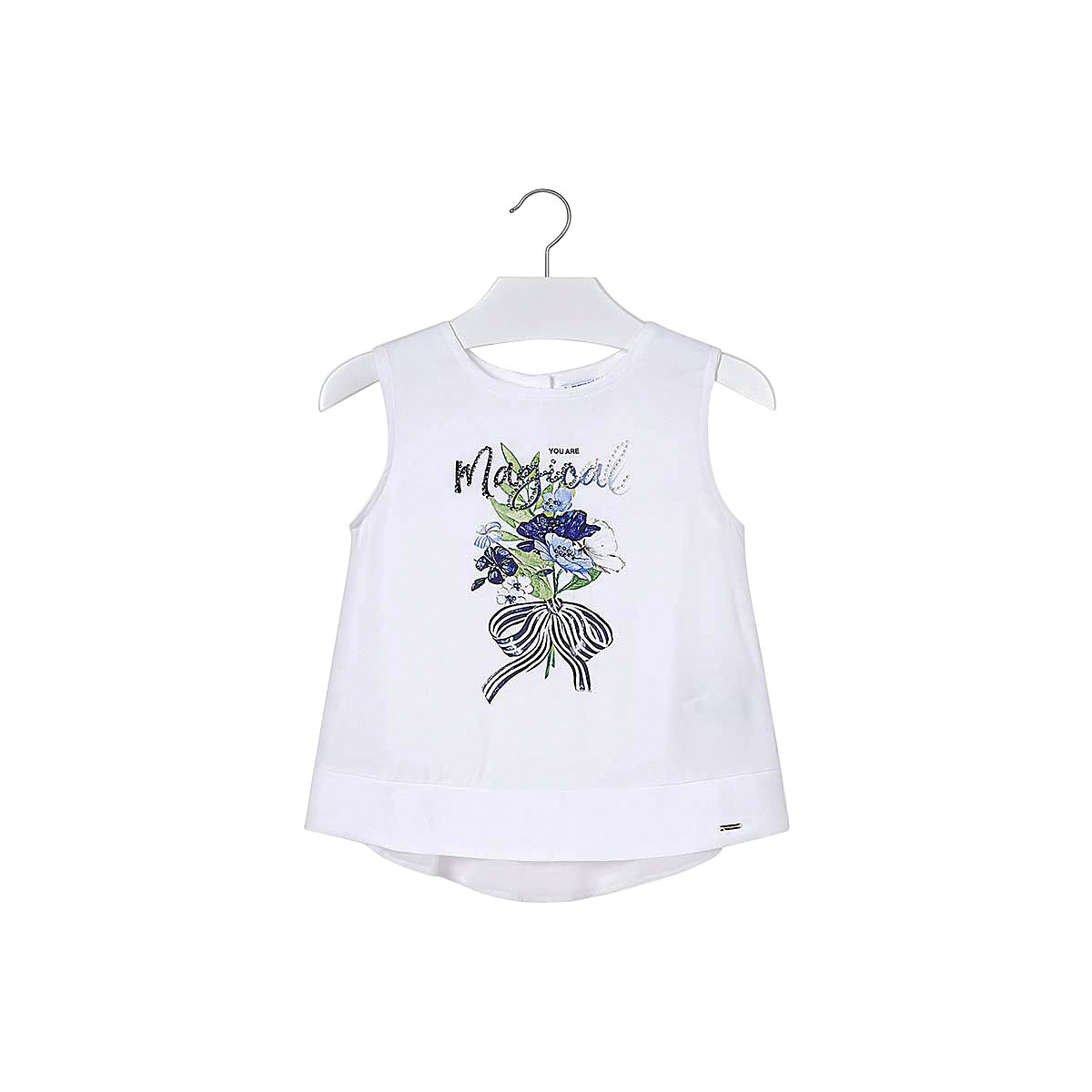 MAYORAL Blouses & Shirts 10688985 children clothing blouse for girls stylish butterfly print flounced blouse shorts twinset for girls
