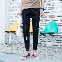 Fashion Man spring summe destroyed Hole slim Jeans Men Paint Dot Street Wear Trousers Male Personal Casual Amazing Denim Pants
