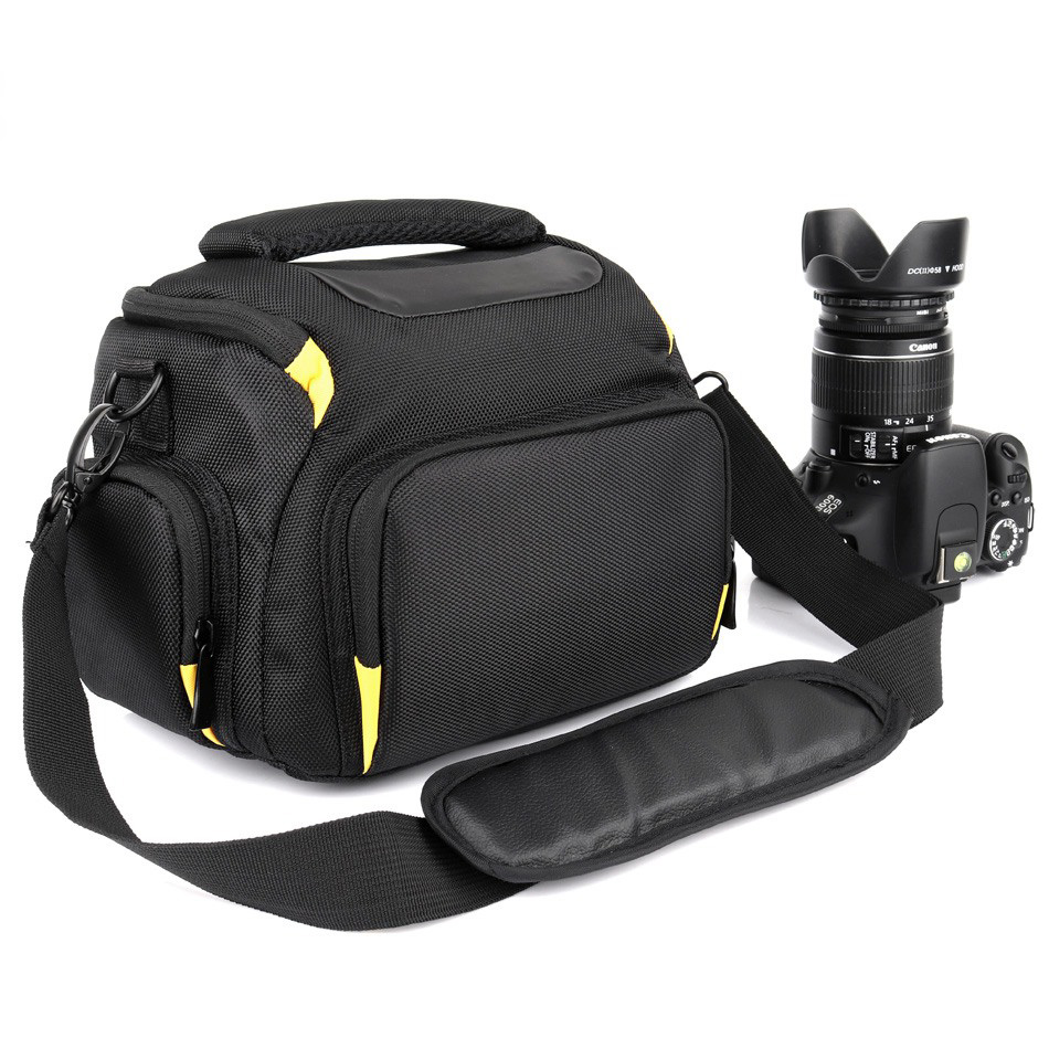 2018 Waterproof DSLR Camera Bag For Sony A7 A7R III alpha Nikon P900 D5300 D3400 D3300 Nikon Camera Canon 700D 750D 1300D Case huwang dslr camera bag case for canon eos 1300d 5d 6d 7d ii iii 800d 77d 750d 60d nikon d3400 d5300 sony alpha a7 photo backpack